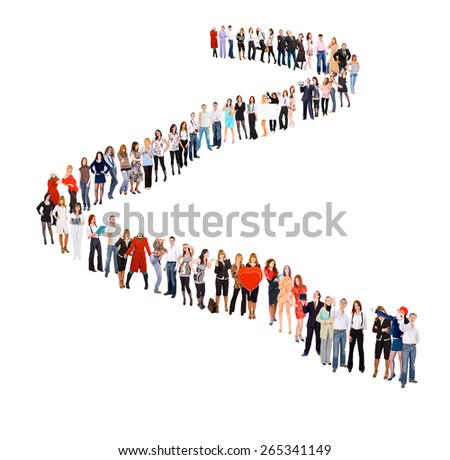 Business Idea People in Queue  - stock photo