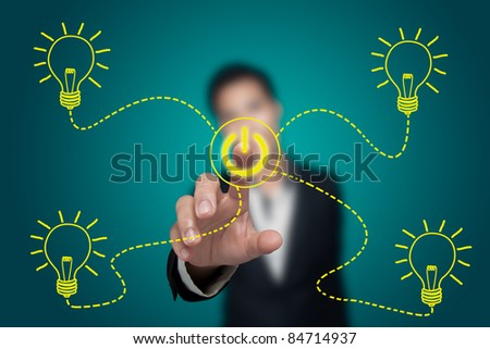 Business ideas about saving energy. - stock photo