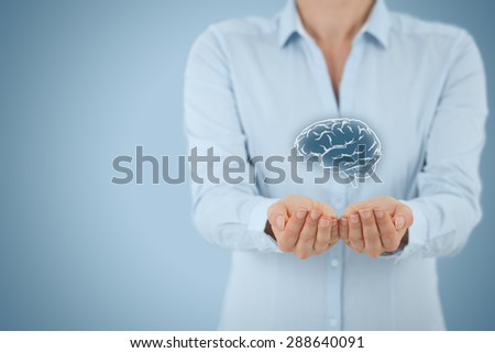 Business ideas and creativity, headhunter concepts, business intelligence, mental health and psychology, business decision making, copyright and intellectual property rights. - stock photo