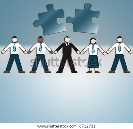Business Illustration: businesspeople, corporation, management