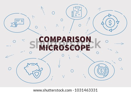 Business illustration showing concept comparison microscope stock business illustration showing the concept of comparison microscope ccuart Choice Image