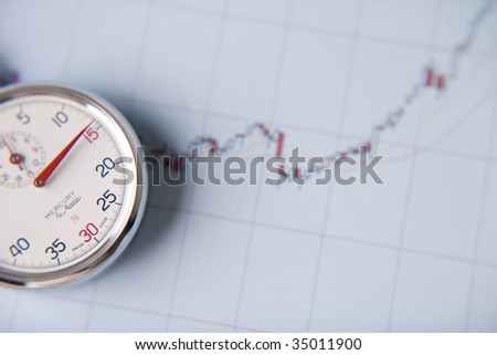 BUSINESS IMAGE-close-up shot of a stopwatch with the cart