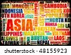 Business in Asia Concept with Asian Countries - stock photo