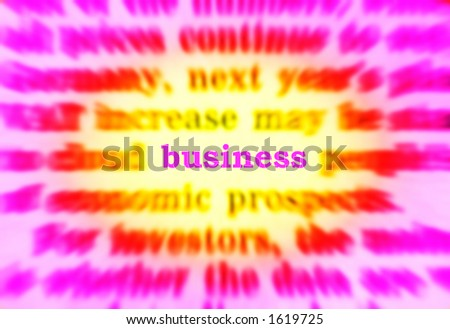 business in newspaper - stock photo