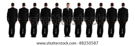 Business individuality concept over white background. - stock photo