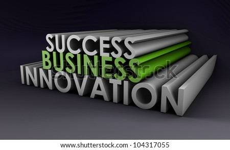 Business Innovation as an Important Idea in 3d - stock photo