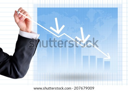 Business insolvency concept - stock photo