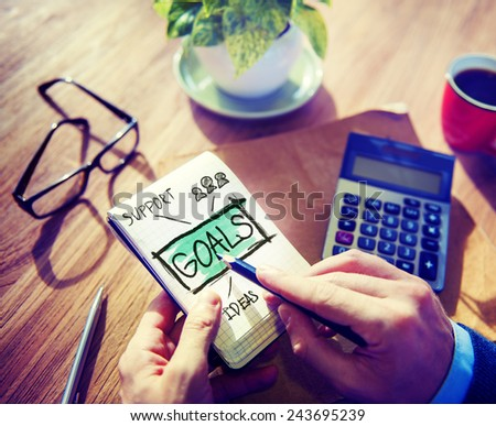 Business Inspiration Target Stratery Office Working Concept - stock photo