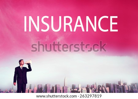 Business Insurance Policy Safty Protection Concept - stock photo