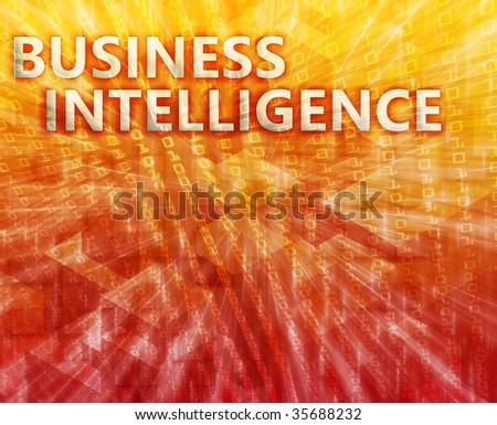 Business intellegence abstract, computer technology concept illustration - stock photo
