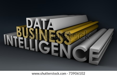 Business Intelligence from Data Analysis in 3d - stock photo
