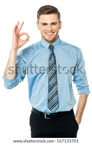 Business is absolutely perfect these days - stock photo