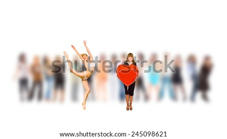 Business Isolated From a Crowd  - stock photo