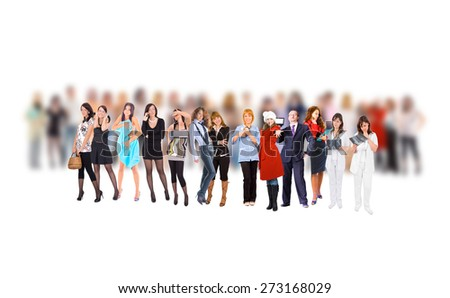Business Isolated To Stand Out  - stock photo
