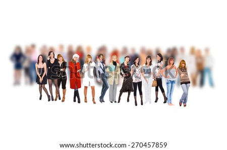 Business Isolated Us and Them  - stock photo