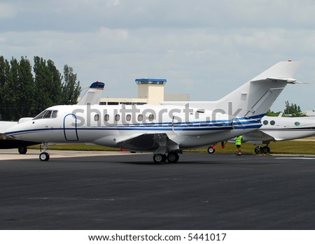 Business jet airplane - stock photo