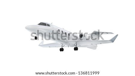 Business jet - isolated