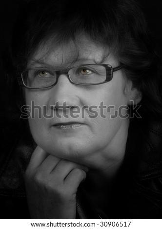 Business lady thinking - stock photo
