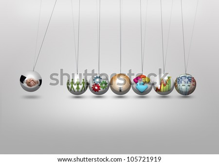 Business leadership and partnership concept - stock photo