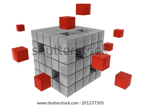 Business Leadership and teamwork partnership concept to archive a common goal - stock photo