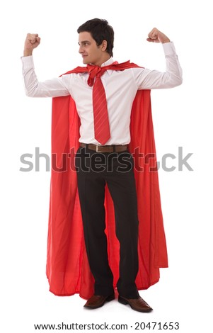 business leadership concept with a young hero businessman - stock photo