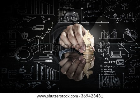 Business leadership strategy - stock photo