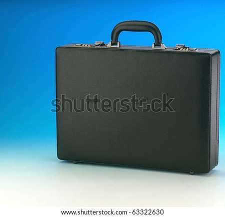Business Leather Briefcase on Color Background