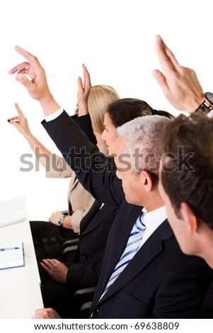 Business lecture - stock photo