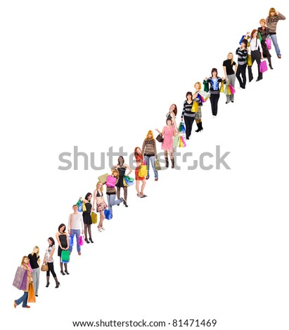 Business Line People - stock photo