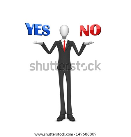Business making yes or no choice - stock photo