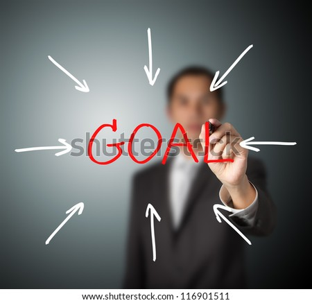 business man access goal - stock photo