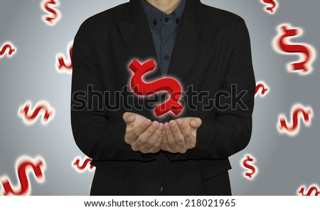 business man analyze graph financial and stock. - stock photo