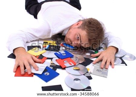 business man and data - stock photo