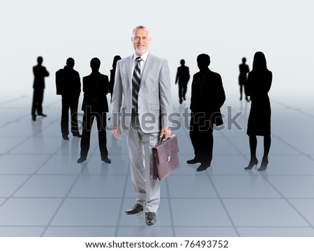 business man and his team - stock photo