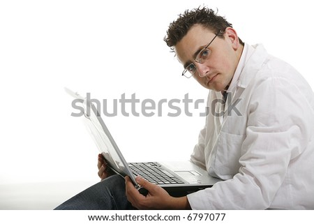 business man and laptop