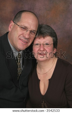 Business man and woman together - stock photo