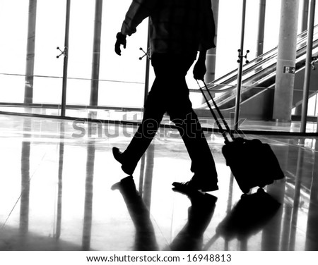 Business man at the airport - stock photo