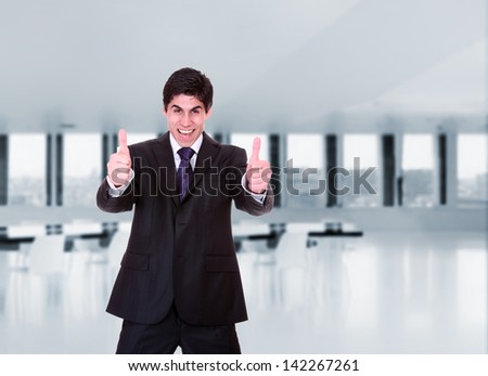 Business man at the office - stock photo