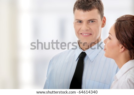 Business man at work - stock photo