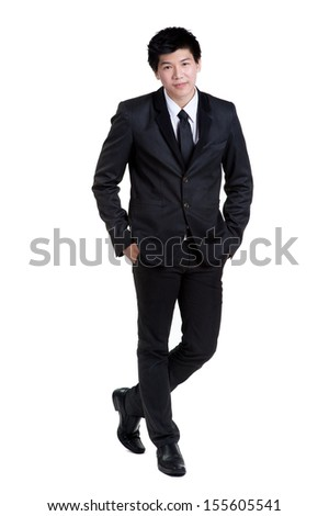 business man Attractive  smart in suit isolated