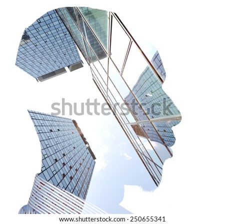 Business man building concept - stock photo