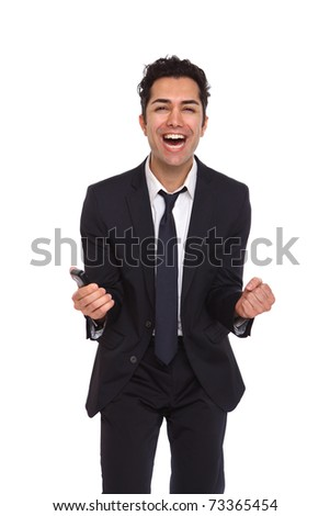Business man crying because of mistake - stock photo