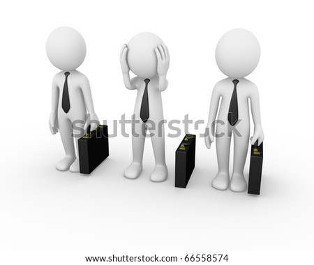 Business man disoriented - stock photo