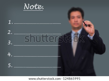 business man draw with marker on empty copy space isolated