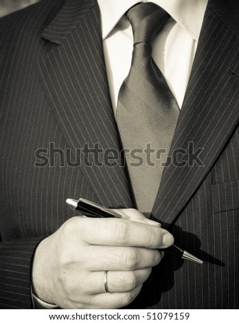 business man dressed with tie, vintage monochrome