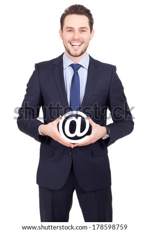 business man email symbol - stock photo
