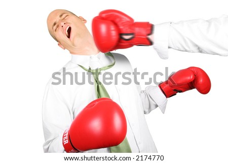 Business Man getting knocked out