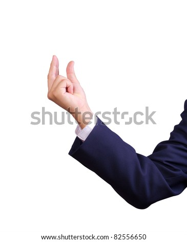business man hand isolated