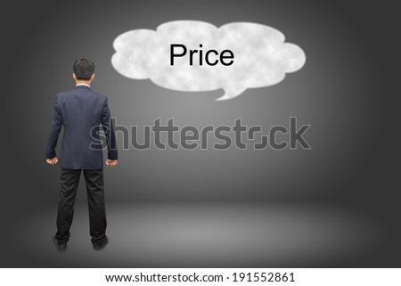business man hand writing Price  - stock photo
