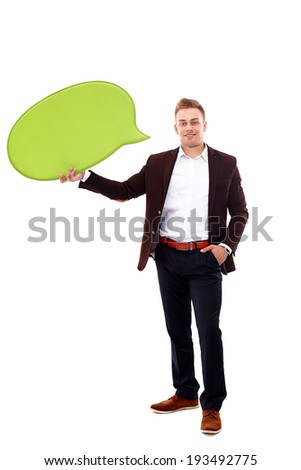 Business man Hold blank - stock photo